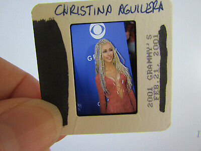 Original Press Photo Slide Negative - Christina Aguilera - 2001 - Z • 21.99£