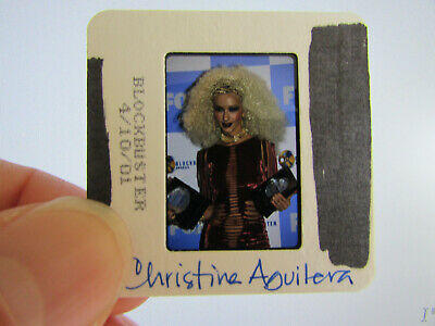 Original Press Photo Slide Negative - Christina Aguilera - 2001 - AA • 21.99£