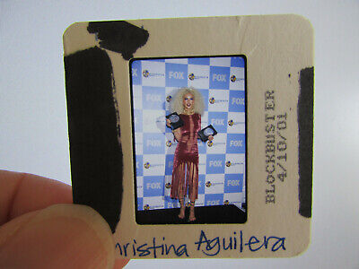Original Press Photo Slide Negative - Christina Aguilera - 2001 - AB • 21.99£
