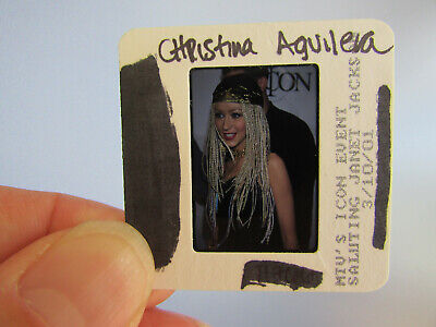 Original Press Photo Slide Negative - Christina Aguilera - 2001 - AC • 21.99£
