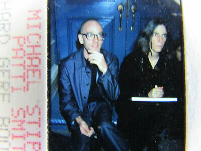 Original Press Photo Slide Negative - R.E.M. - Michael Stipe & Patti Smith - '97 • 15.99£