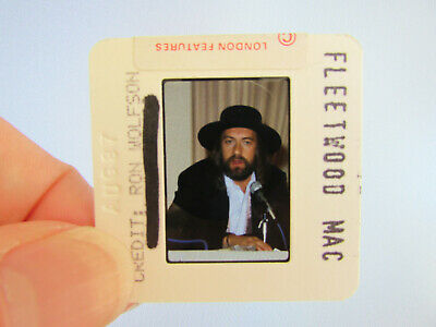 Original Press Photo Slide Negative - Fleetwood Mac - Mick Fleetwood - 1987 - E • 25.99£