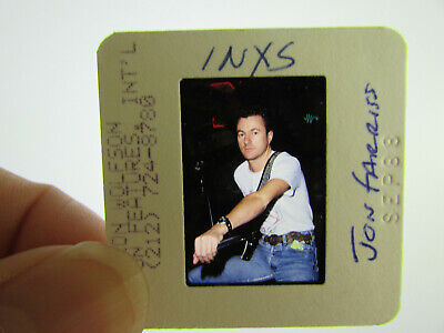Original Press Photo Slide Negative - INXS - Jon Farriss - 1988 - A • 31.99£