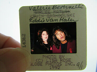 Original Press Photo Slide Negative - Eddie Van Halen & Valerie Bertinelli - B • 25.99£