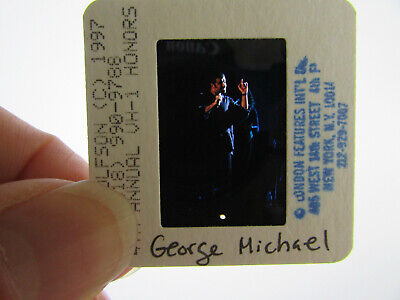 Original Press Photo Slide Negative - George Michael - 1997 - G • 31.99£
