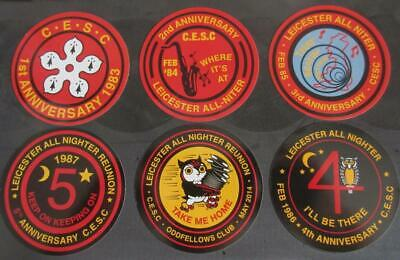Northern Soul Record Box Stickers - Set Of 6 Leicester Allnighter Stickers • 1.99£