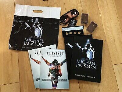 MICHAEL JACKSON - THE OFFICIAL EXHIBITION JOB LOT BRAND NEW Rare Set Of 2 • 150£