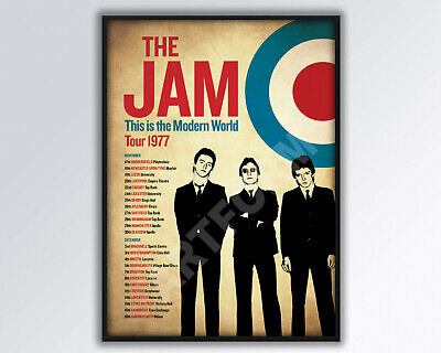 THE JAM REIMAGINED 1977 UK  Tour Poster A3 Size. • 14£