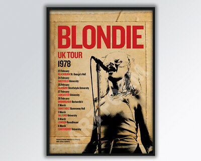 BLONDIE DEBBIE HARRY Reimagined 1978 UK Tour Poster A3 Size. • 14£