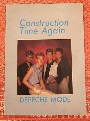 DEPECHE MODE Construction Time Again Tour Concert Programme Great Condition • 85£