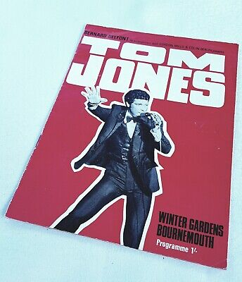 Tom Jones / Uk Tour Programme August 3rd Winter Gardens Bournemouth 1968 • 40£