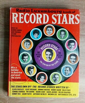 Radio Luxembourg Record Stars Book No 1 Vintage Pop Music Hardback Book 1962 • 8£