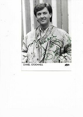 Daniel O' Donnell Hand Signed Black And White Photograph 7 X 5  . • 19.99£
