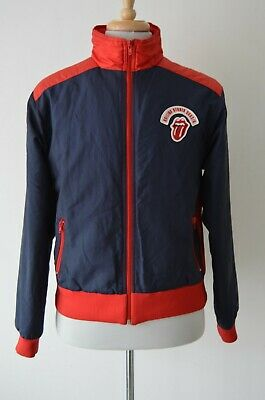 Rolling Stones Embroidered Logo 2002/3 Navy Tour Bomber Jacket Size L • 49.99£