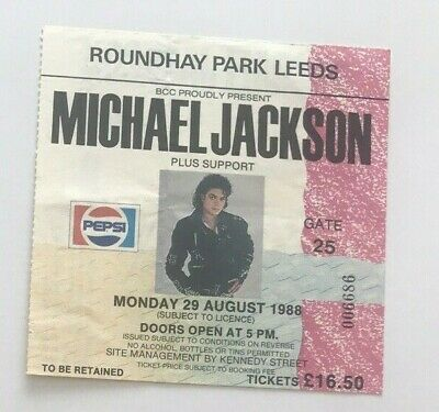 Michael Jackson Bad Tour Concert Ticket Stub X1 MJ Birthday Dates Rare • 40£