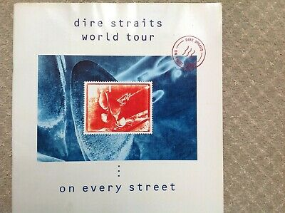 1992 DIRE STRAITS On Every Street UK Tour Programme • 9.50£