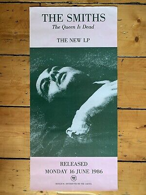 Original 1986 The Smiths Queen Is Dead Promo Poster • 750£