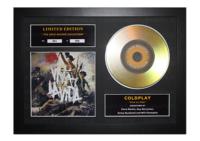 Coldplay Signed Gold Disc Album Ltd Edition Framed Picture Memorabilia • 14.99£
