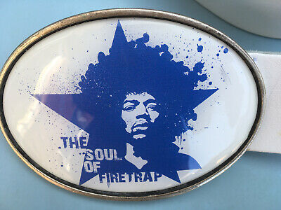 Jimi Hendrix Leather  Belt And Buckle • 6£