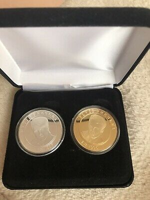1x Gold And 1x Silver Elvis Coin • 15£