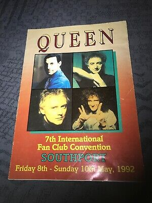 Queen Fanclub Convention Official Flyer From 1992 Rare. • 3.40£