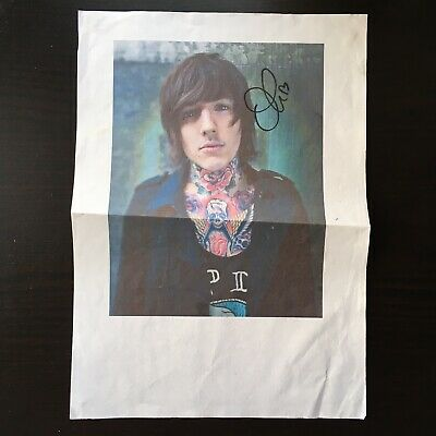 SIGNED OLI SYKES A4 Printed Poster. 2011 DOWNLOAD Festival • 19.99£