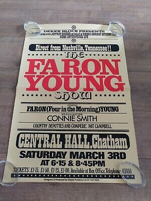 Faron Young Original UK Double Crown Concert Poster • 15£