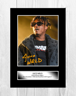Juice Wrld 1 Rapper A4 Reproduction Autograph Poster With Choice Of Frame • 6.95£
