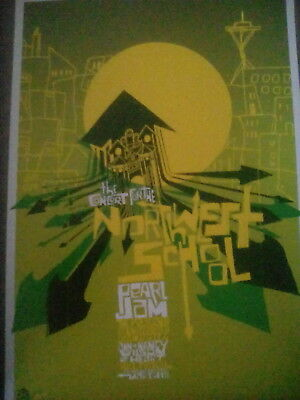 Pearl Jam Northwest School 2005 Tour From Poster Art Book 29x20cm To Frame? • 9.50£