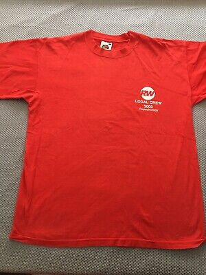 Robbie Williams Repackology Tour Local Crew T Shirt Size L • 8£