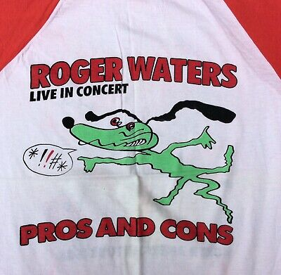 Roger Waters Vintage 1985 Pros And Cons Of Hitchhiking Tour Shirt Pink Floyd • 24£