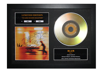 Blur Signed Gold Disc Album Ltd Edition Framed Picture Memorabilia • 19.99£