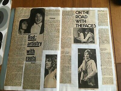 Rod Stewart/faces/rory Gallagher/jimi Hendrix Scapbook • 30£