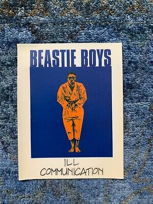 Beastie Boys Ill Communication Vintage Decal Cling Sticker • 5.93£
