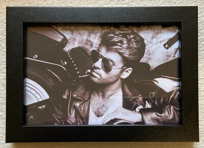 George Michael Picture Framed Gift New • 13.95£