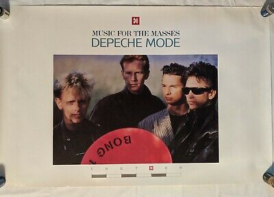 Rare Depeche Mode Music For The Masses Record Store Promo Poster 1987 35 X23  • 148.16£