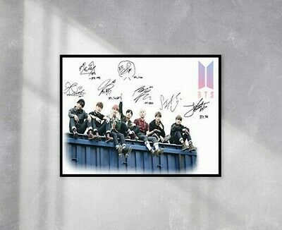 BTS Signature Poster - 240gsm Gloss Photo Paper - A4 And A3 Options -Print Only • 4.99£
