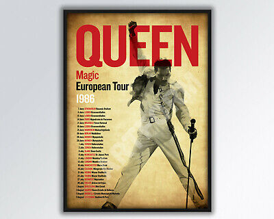 QUEEN Magic 1986 REIMAGINED European Tour Poster A3 Size. • 14£