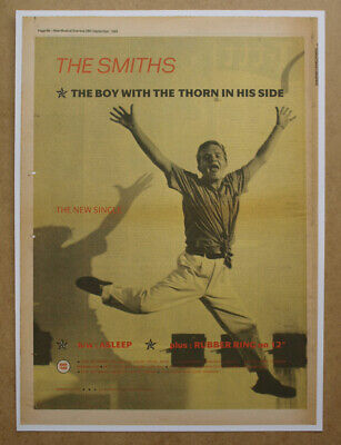 THE SMITHS ORIGINAL ADVERT (not Reproduction) For The 1985 Single 'The Boy With  • 15£
