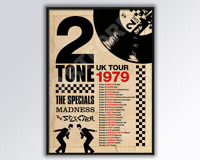 Madness The Specials Two Tone 1979 UK REIMAGINED Tour Poster  • 14£