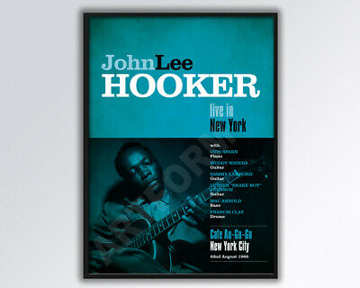 JOHN LEE HOOKER Live In New York Reimagined Poster A3 Size. • 14£