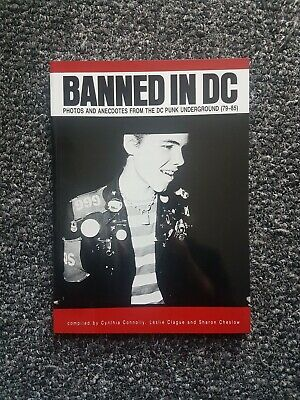 Banned In DC - Photos From The DC Underground Book Dischord Bad Brains  • 20£