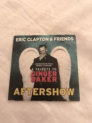 Eric Clapton And Friends - A Tribute To Ginger Baker 2020 After Show Soft Pass • 10£
