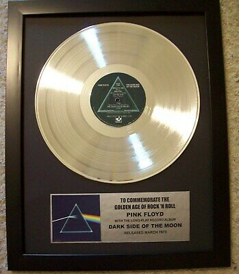 Pink Floyd DARK SIDE OF THE MOON Platinum White Gold LP Record + Mini Album Disc • 67.50£