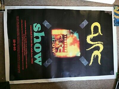 The Cure Show Promo Poster 13/9/93 154cm X 102 • 50£