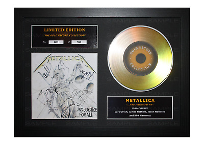 Metallica Signed Gold Disc Album Ltd Edition Framed Picture Memorabilia • 19.99£