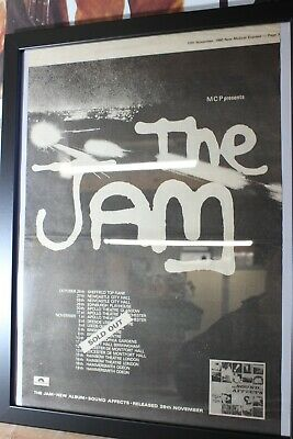 The Jam-Sound Affects LP Advert & Tour Dates.NME 15/11/1980 Original Full Page • 19.99£