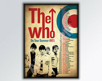 The Who 1965 Tour Poster A3 Size • 14£