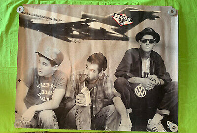 RARE Giant Beastie Boys Poster Licensed To Ill 1986 Hip Hop Def Jam 42x33 • 37.04£