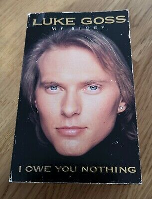 BROS Luke Goss My Story 'I Owe You Nothing' SIGNED Autobiography Book VERY RARE • 100£